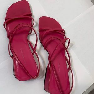 """COPY - BANDALINO LEATHER, STRAPPY SANDALS """"PINK"""""""